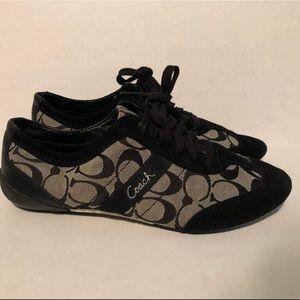 Coach Black Signature Sneakers Size 10